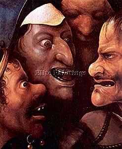 THE CROSS FOR CHRIST DETAIL 2 BY BOSCH ARTISTA QUADRO DIPINTO OLIO SU TELA DECO 120x100cm alta qualita
