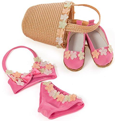 Kidz 'n' Cats Y10041 Bekleidung Strand Set für Spielpuppen - Puppe Strand Girl American Kleidung
