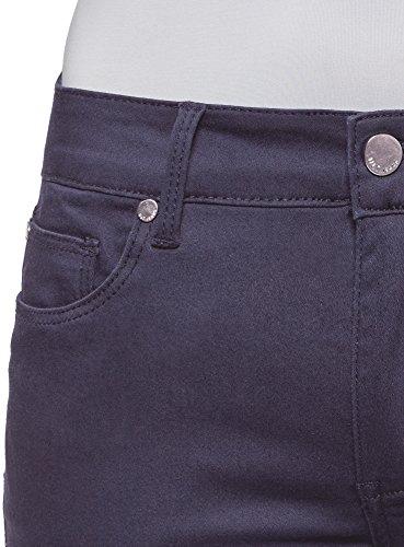 oodji Ultra Damen Jeans Skinny Basic Blau (7900N)