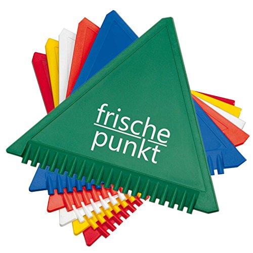 2000 x Eiskratzer Eisschaber Eisbrecher 11 cm Kantenlänge mit Druck 60 x 22 mm 1-farbig Logo Text Grafik