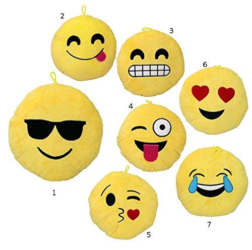 """Smiley Emoticon Kissen Sofakissen """"7"""" Plüsch 22cm *NEU*OVP*"""