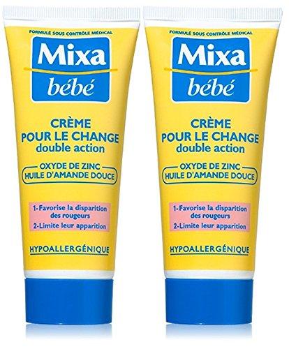 Mixa Bébé Crème pour le Change Lot de 2 x 100 ml