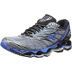 Mizuno Wave Prophecy 7, Zapatillas de Running para Hombre, Gris (Tradewinds/Divablue/Black 24), 44 EU