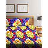 Bombay Dyeing Double Bedsheet with 2 Pillow Covers - Blue