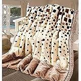 """SUNNY KEY--Mantas para cama @ Vellón de Coral Cuadros/A Cuadros Combinación Poliéster/algodón mantas , w79"""" x l90"""""""
