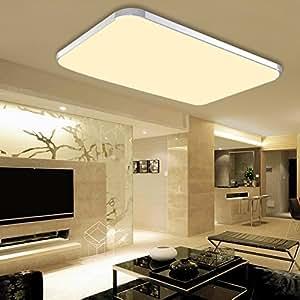hengda 48w led deckenleuchte deckenlampe panel badlampe warmwei ac 85v 265v 6000k 6500k. Black Bedroom Furniture Sets. Home Design Ideas