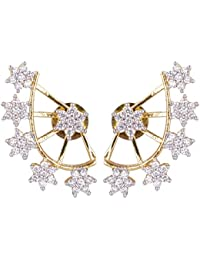 This Listing Is For JSD Gold Plated American Diamond Earcuff For Women And Girls