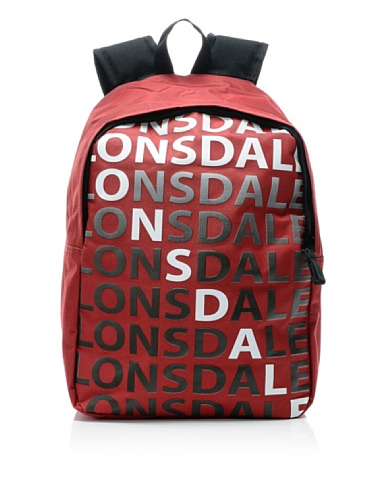 Lonsdale London Tasche Börse Bagpack Letters kirschrot