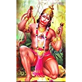 SAMRIDDHI Vinyl Premium Quality Gloss Laminated Poster Lord Hanuman For Living Room