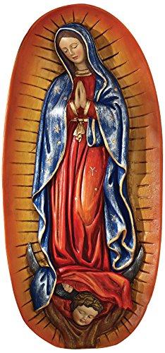 Design Toscano Die Jungfrau von Guadeloupe, Religiöse Wandfigur Virgin Garten Statue