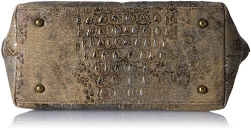 LAURA VITA Damen Canada Tote, 15 x 27 x 43 cm Braun (Taupe)