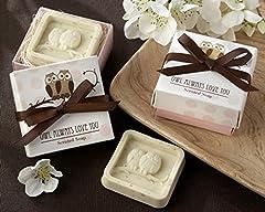 Idea Regalo - Buhos - Confezione da 20saponette aromatizzata in scatola regalo-Dettagli nozze a prezzi convenienti -Saponette per regali di nozze.