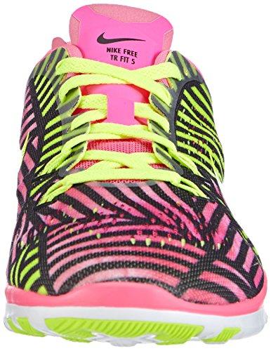 Nike Free Trainer 5 Print, Chaussures de Fitness Femme Rose (pink Pow/volt-black 600)