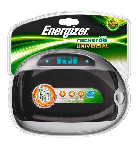 Energizer 632959 Caricatore Universale, Nero/Argento