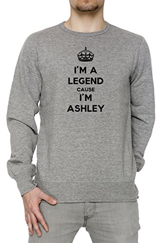 im-a-legend-cause-im-ashley-hombre-sudadera-jersey-pullover-gris-algodon-mens-jumper-sweatshirt-pull