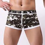 GreatestPAK T-Shirt Unterwäsche Herren Briefs Shorts Patchwork Print Boxer Bulge Pouch Unterhose,Armeegrün,XL