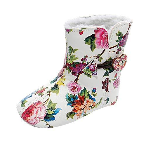 Unisex Baby Warm Gefütterte Boots Schneestiefel Zhen+ 0-3 Jahre Jungen Mädchen Kurze Weiche Stiefel PU Pelz Schuhe Druck/Einfarbige Schuhe Winter rutschfest Warme Schuhe