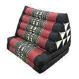 World Traditionelle Thai 3 Gefaltet Matratze mit orientalischen Stil Dreieck Recliner Kissen Yoga Massage Oder entspannende Dreieck Kissen (120X50X28cm) (Farbe : C)