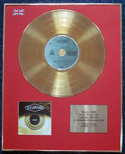 Def Leppard-Limited Edition CD 24Karat Gold beschichtet LP Disc-Vault