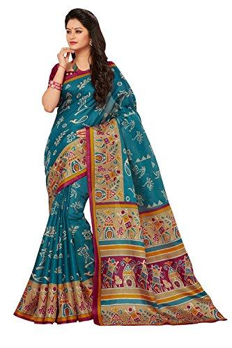 AppleCreation sarees for women Sale Offer Printed saree ( Blue_5MDB8755C_Free Size )