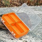 Horrenz–14* 8.3* 4,1cm Angeln Tackle Box 9Fächer Transparent sichtbar Kunststoff...
