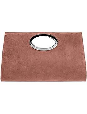 CASPAR TL699 große Damen XXL Wildleder Clutch Tasche Handtasche Abendtasche Ledertasche