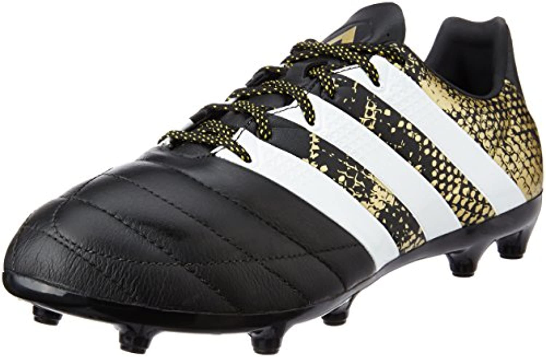 adidas Herren Ace 16.3 FG Leather Fußballschuhe  Schwarz