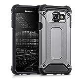 kwmobile Custodia ibrida per Samsung Galaxy A3 (2016) Design transformer - Cover rigida per cellulare outdoor dual case TPU silicone antracite nero