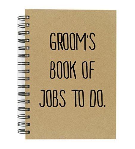 Des Bräutigams Buch von Arbeit zu tun A5Kraftpapier Notizbuch groß Qualität Block gestreift Hochzeit Planung Verlobungsring Geschenk Planer