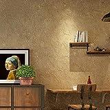 yhyxll Papel Pintado no Tejido veteado de Cemento Gris Vintage Sala de Estar Dormitorio Comedor Bar Fondo Papel de Pared 2