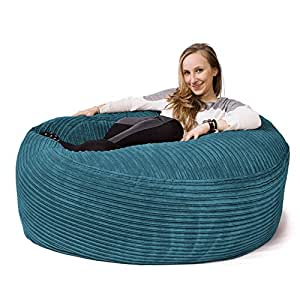 lounge pug 39 mammoth 39 sofa sitzsack xxl riesen sessle cord t rkis k che haushalt. Black Bedroom Furniture Sets. Home Design Ideas