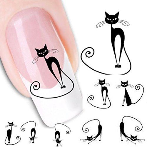 kolylong-1pc-diy-schwarze-katzen-muster-abziehbild-aufkleber-nagel-kunst-nail-art