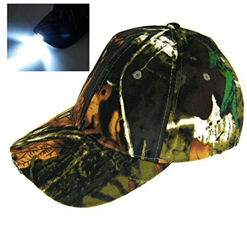 - Cappello mimetico con luce a 5LED, per la caccia e la pesca nella giungla, berretto vintage da trekking