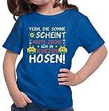 HARIZ  Mädchen T-Shirt Zocken In Kurzen Hosen Gamer Gaming Fun Retro Nerd E-Sport Plus Geschenkkarten Royal Blau 164/14-15 Jahre