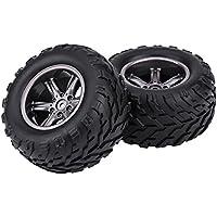 2Pcs RC Coche Llantas, TPR Neumáticos & Ruedas de Cubos para 1/12 RC Coche Camión Crawler
