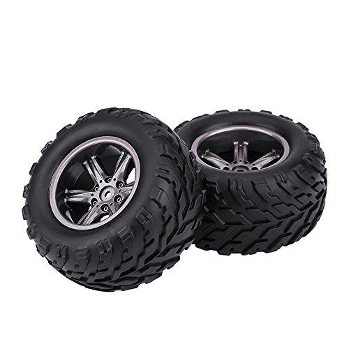 2 Stück TPR Reifen, Reifen und Naben Felgen für 1/12 RC Auto Lkw Crawler