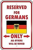 Bilingo Germany 2 Country Parking Only GermanVintage Metall Zinn Wand Schild Plaque Poster personalisierte Familie Straßenschild 12 x 8 Zoll