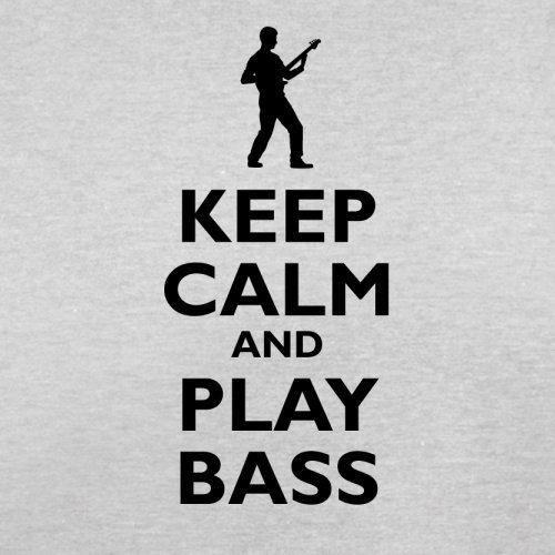 Keep Calm and Play Bass Guitar - Herren T-Shirt - 13 Farben Hellgrau