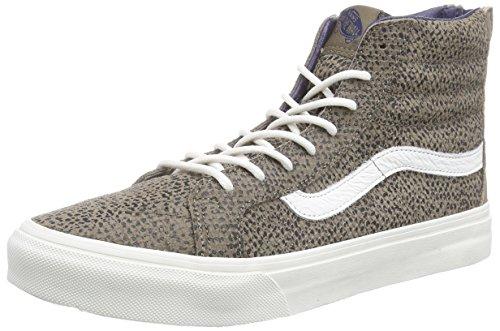 Vans U Sk8-hi Slim Zip Cheetah Suede, Sneakers Hautes mixte adulte Marron ((cheetah Suede) Black