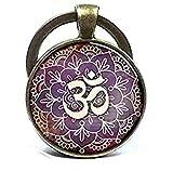Om Llavero con símbolo de Om llavero de Namaste Zen llavero de yoga llavero joyería...