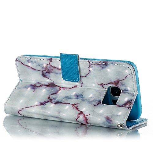 Marmor Stein Grain Texure Pattern PU Ledertasche Cover, Retro Bookstyle Flip Stand Case mit Magnetverschluss & Card Slots & Lanyard für Samsung Galaxy S7 Edge ( Color : E ) C