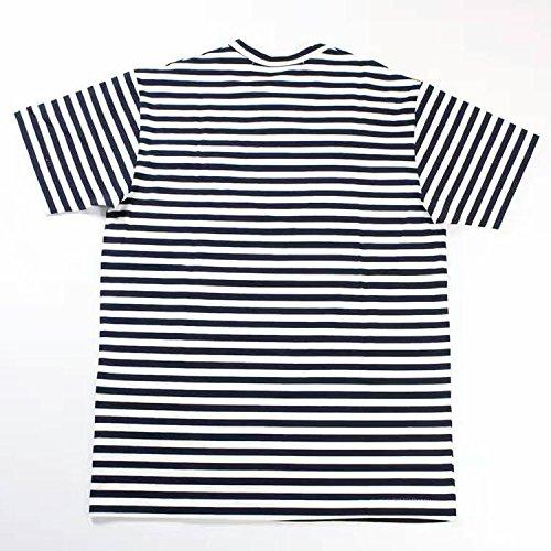 BOMOVO Herren PLAY T-Shirt Streifen Mit kurzem Ärmel, Rundhalsbund. T-Shirt aus 100% ringgesponnener Baumwolle Blau