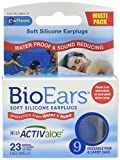 Bio Ears Soft Silicone Earplugs Protection 9 Pairs, Blue, Carry Case, contains Activaloe - Antimicrobial Product Protection.