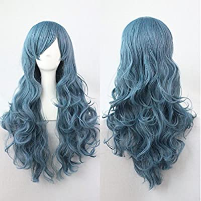 Ecommerce Trade LTD Wig Fancy Dress Costume Halloween Party Accessory Game of Thrones Donald Trump Harley Quinn (Long Blue Wig)