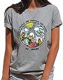 YUFAA Los Animales Divertidos Son Amigos, no Comida, Comida Vegana, Ropa, Camiseta, Regalo para Vegetarianos Camisa de Entrenamiento (Color : Gris, Size : XL)