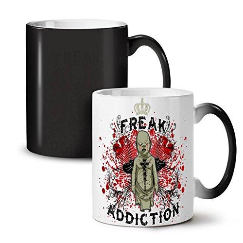 Missgeburt Sucht Zombie Geist Baby SchwarzSchwarz Farbe Ändern Tee KaffeKeramik Farbwechselbecher 11 | Wellcoda (Flügel Baby Tee)