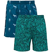 XYXX Men's Printed Cotton Boxer(Pack of 2)
