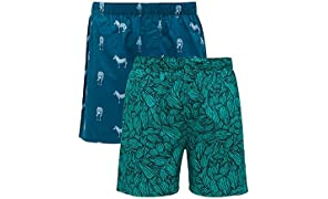 XYXX Men's Printed Cotton Boxers - Pack of 2