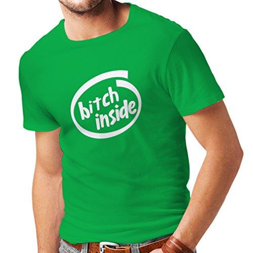 lepni.me Männer T-Shirt Hündin im Inneren, sarkastisch humorvolles Gaggeschenk (Medium Grün Weiß)