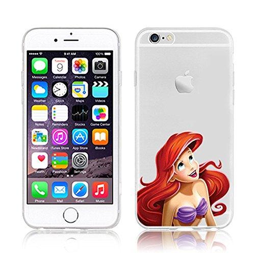 OB4me New Disney Princesses AREIL TRANSPARENT Clear TPU Soft CASE for Apple iPhone 6/6S - AREIL 6